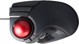Best for BigHands-Elecom M-HT1URBK8buttonFinger-operated LargesizeTrackball Mouse